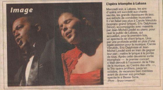 concert guadeloupe - Trio opéra
