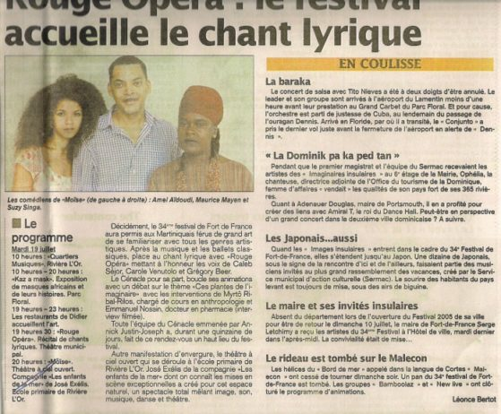 concert guadeloupe - rouge opera
