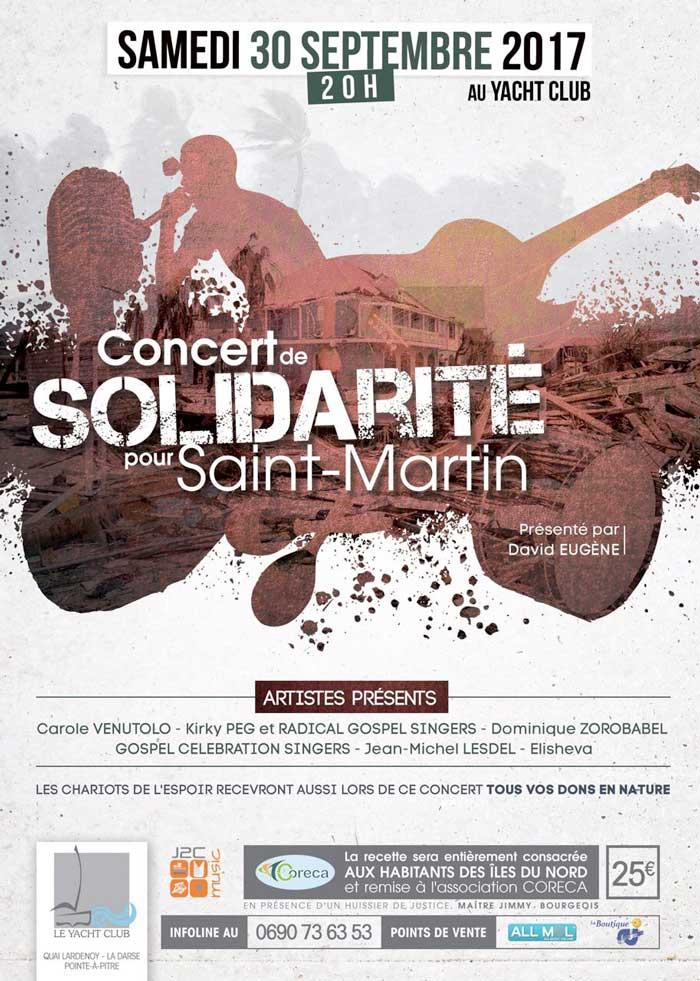Concert de solidarité pour St-Martin
